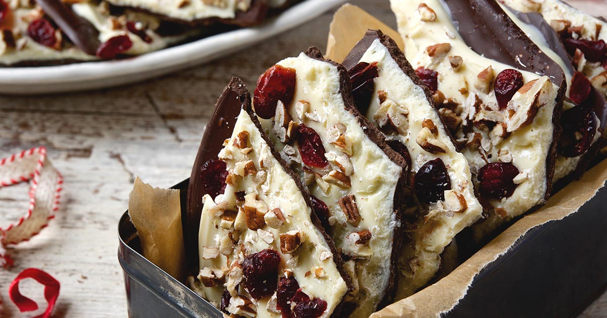 Cranberry Nut Chocolate Bark Recipe | King Arthur Flour