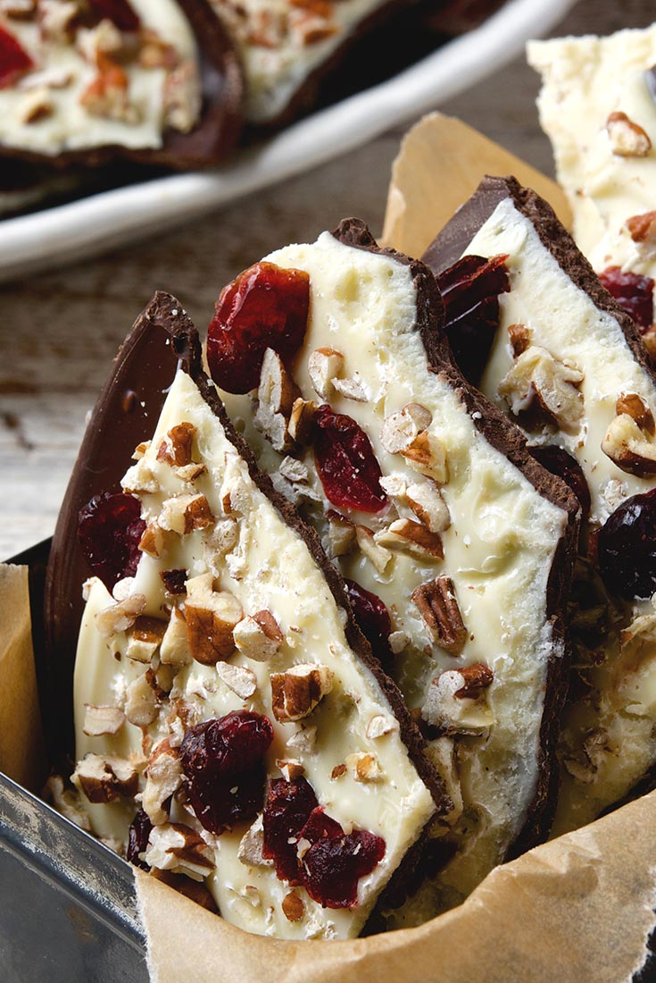 Cranberry Nut Chocolate Bark Recipe