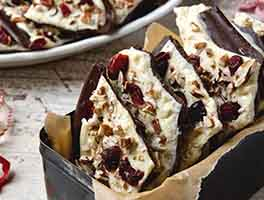 Cranberry Nut Chocolate Bark