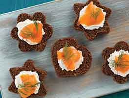 Canapé Pumpernickel Bread