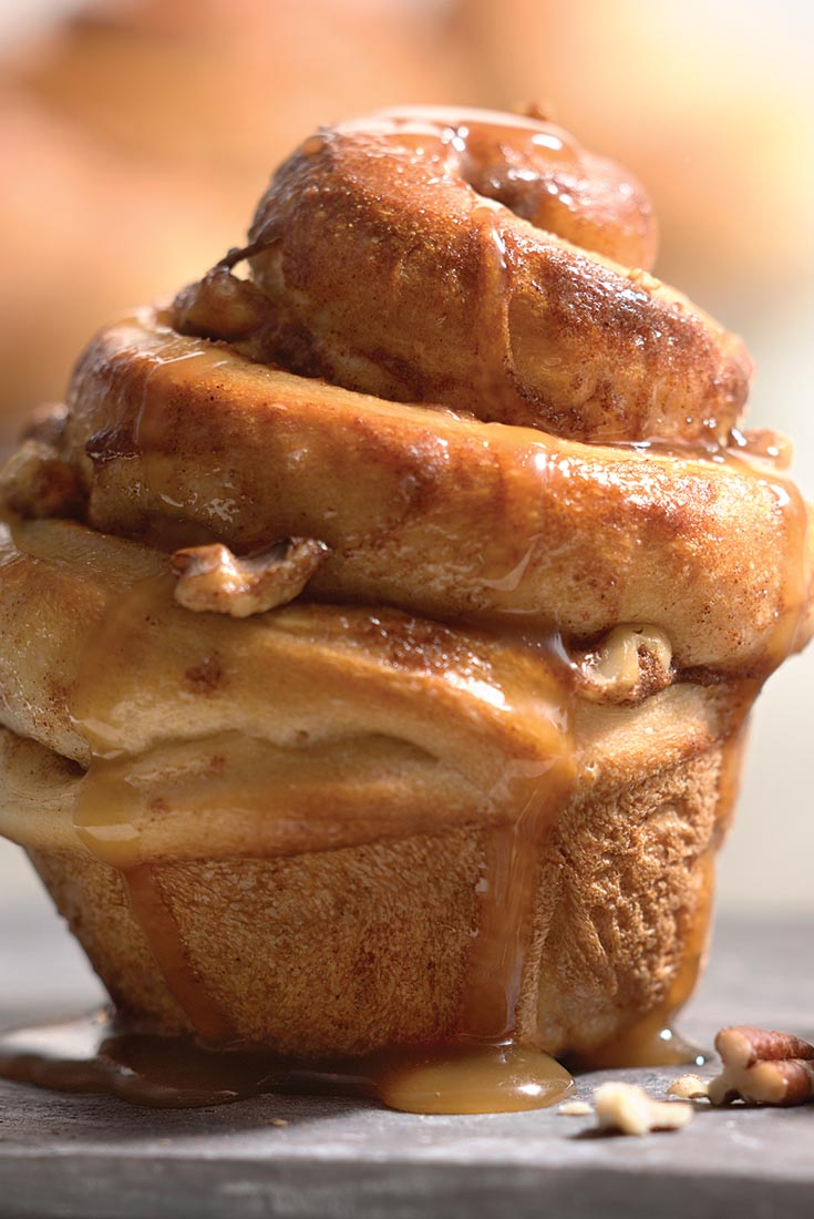 Caramel-Nut Cinnamon Buns Recipe