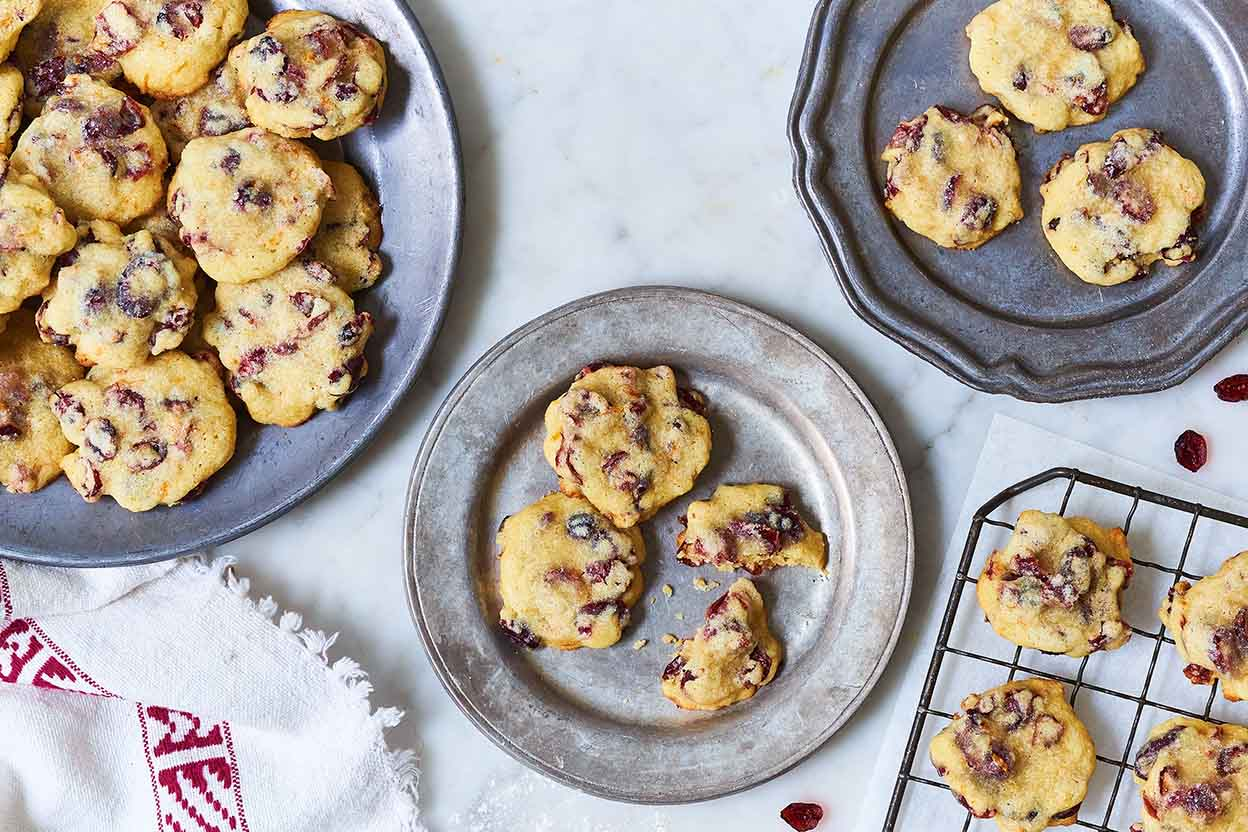 Soft and Chewy Vanilla-Orange Cranberry Cookies Recipe | King Arthur ...