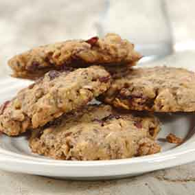Gluten-Free Oatmeal and Flax Cranberry Cookies