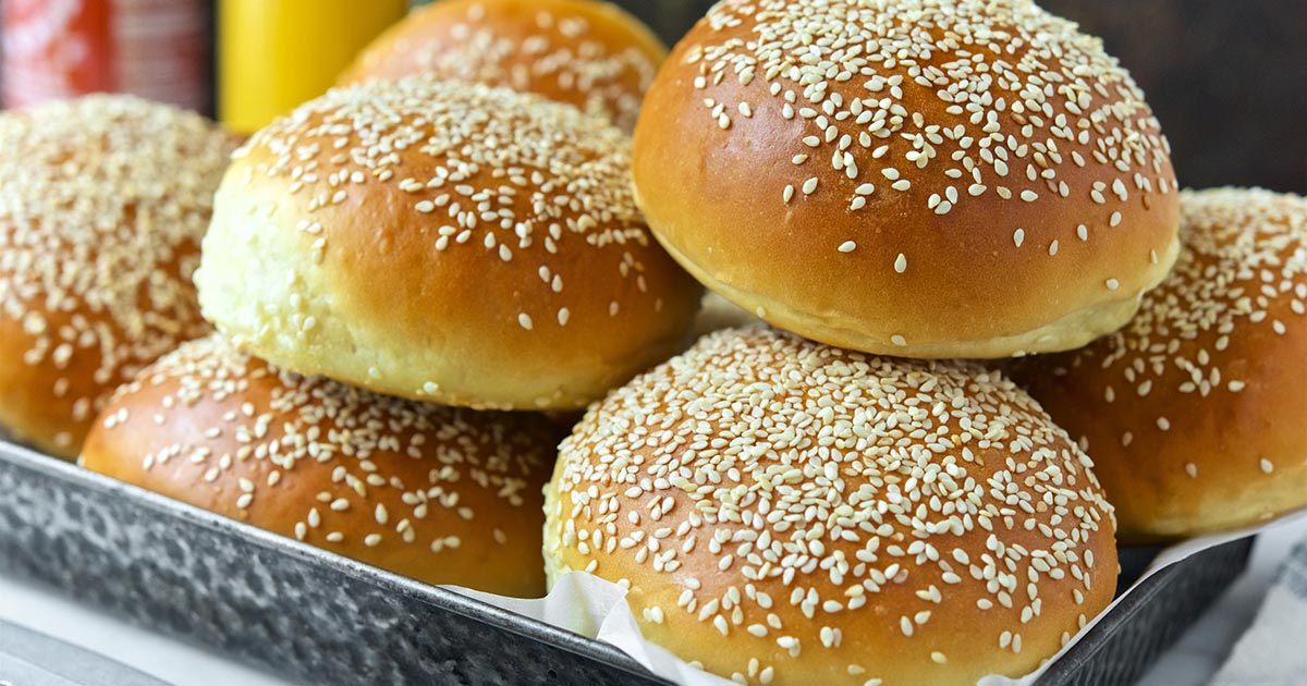 beautiful burger buns recipe king arthur flour. Black Bedroom Furniture Sets. Home Design Ideas