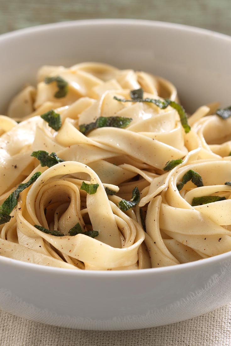 Homemade Pasta with Sage Butter  Recipe