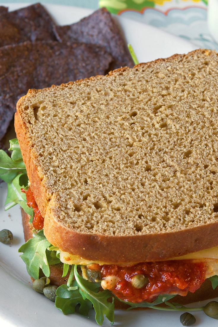 No-Knead 100% Whole Wheat Bread Recipe