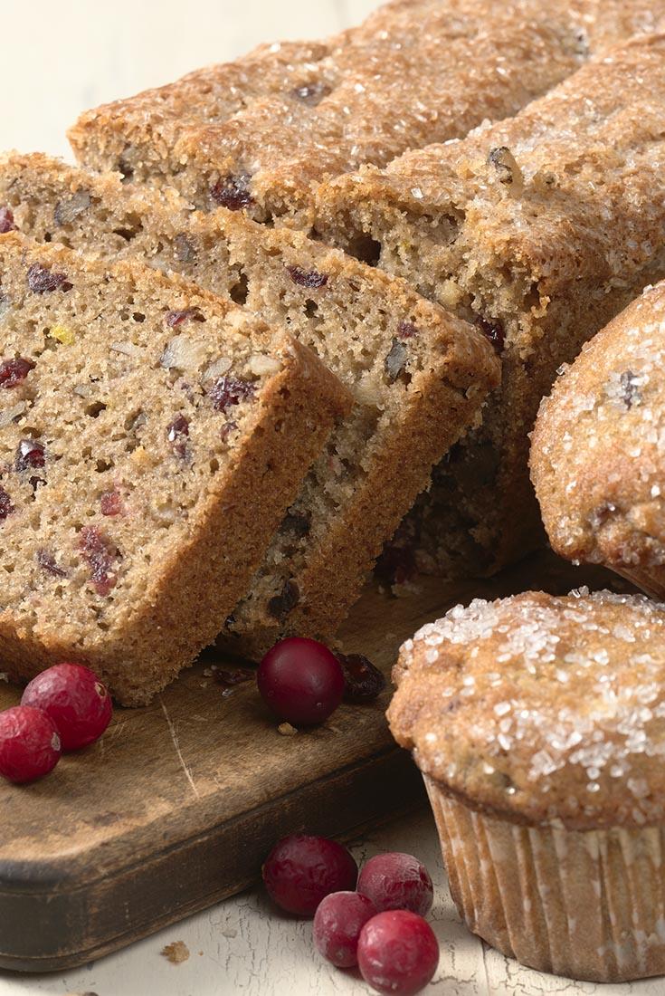 Cranberry-Walnut Bread & Muffins Recipe