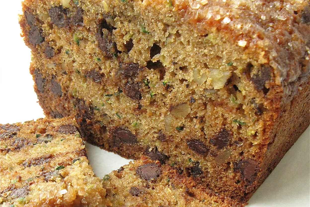 100% Whole Wheat Zucchini Chocolate Chip Bread Recipe | King ...