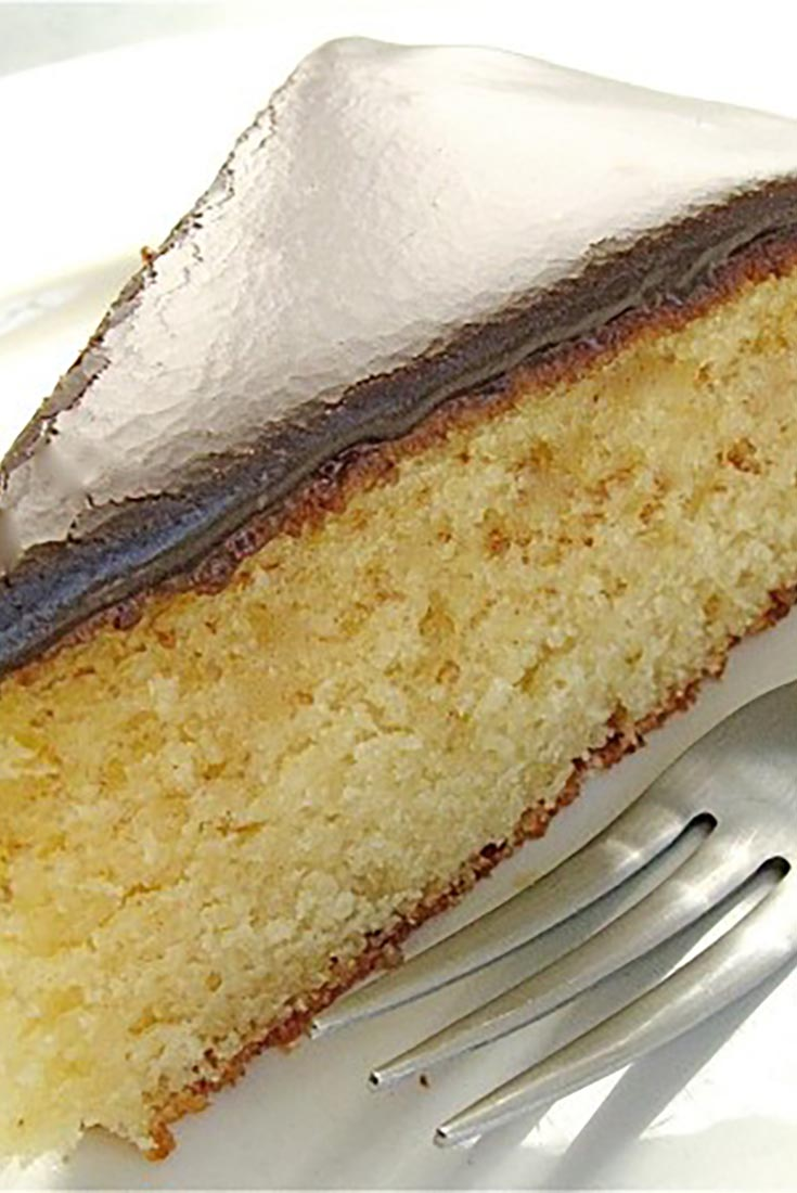 Classic Yellow Cake with Fudge Frosting Recipe