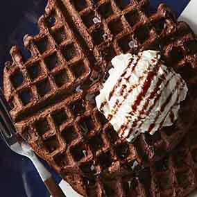 Chocolate Malt Waffles
