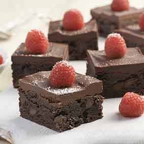 Chocolate and Raspberry Brownie Bars