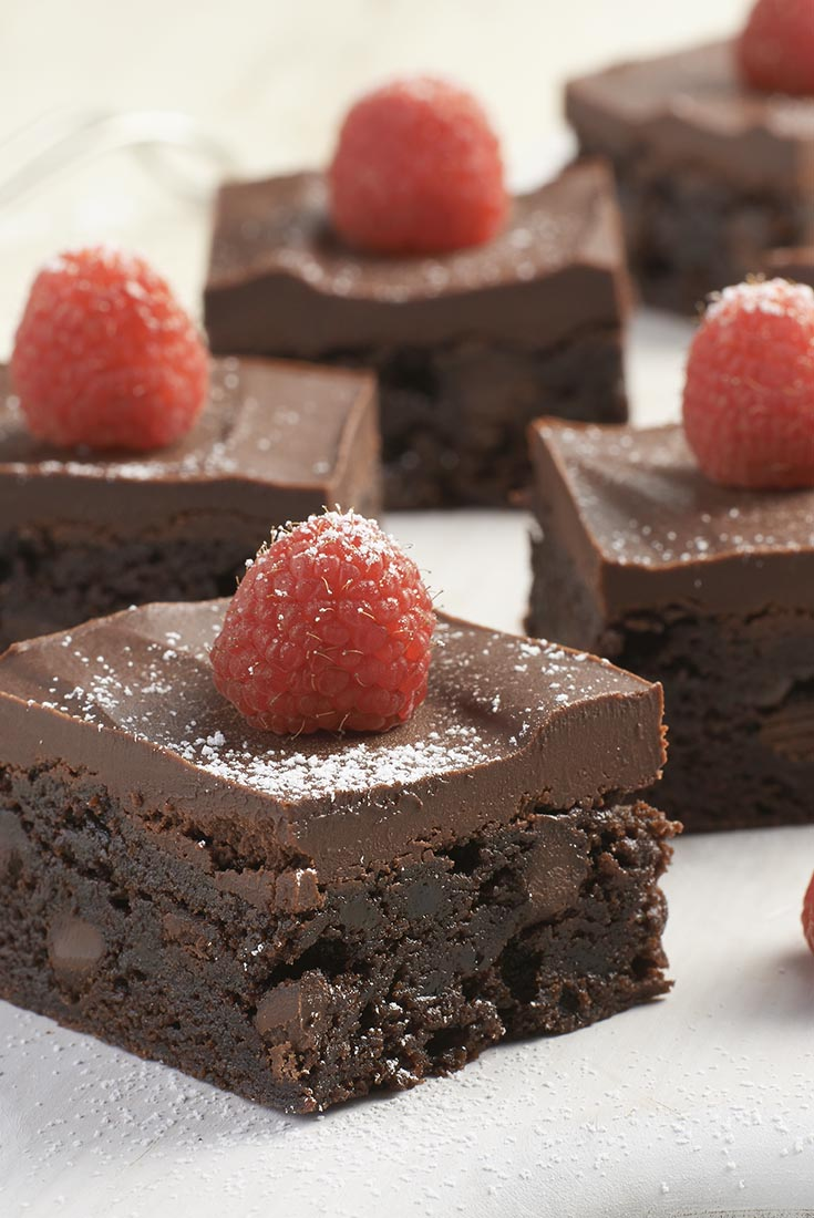 Chocolate and Raspberry Brownie Bars Recipe