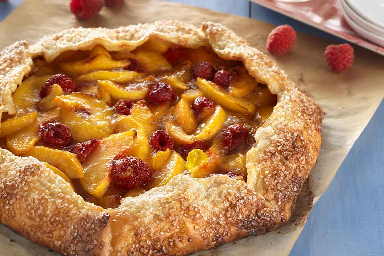 Rustic Peach Tart Recipe King Arthur Flour