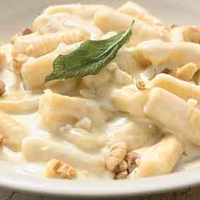 Potato Gnocchi with Gorgonzola Cream Sauce