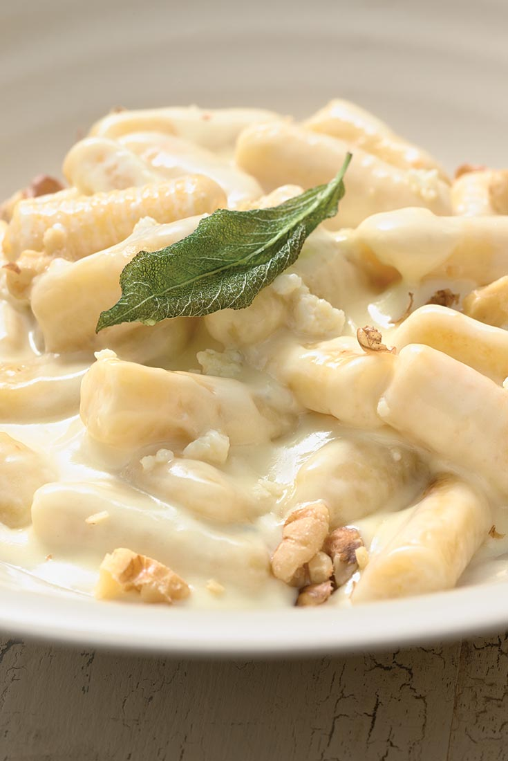 Potato Gnocchi with Gorgonzola Cream Sauce Recipe