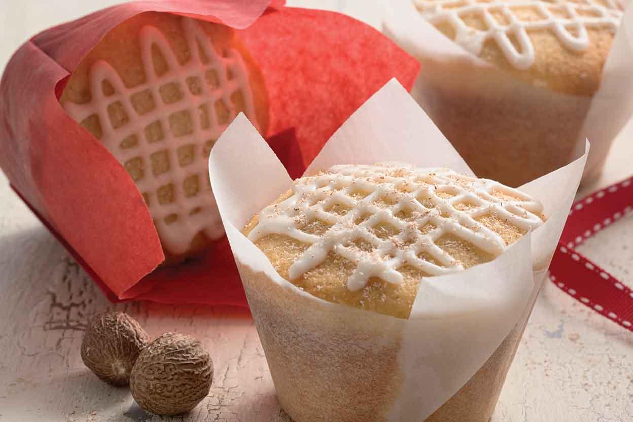 Golden Eggnog Cupcakes Recipe   King Arthur Flour