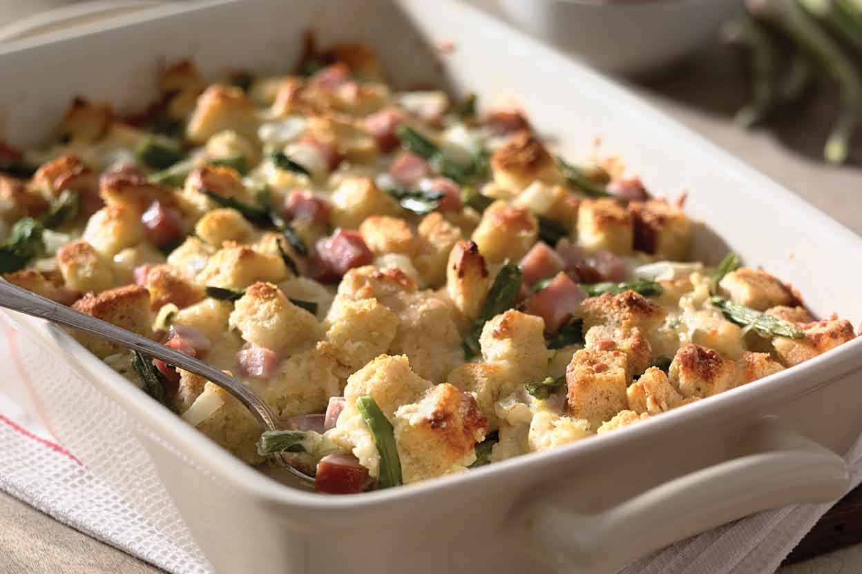 Breakfast main dish recipes king arthur flour asparagus strata with sourdough forumfinder Image collections