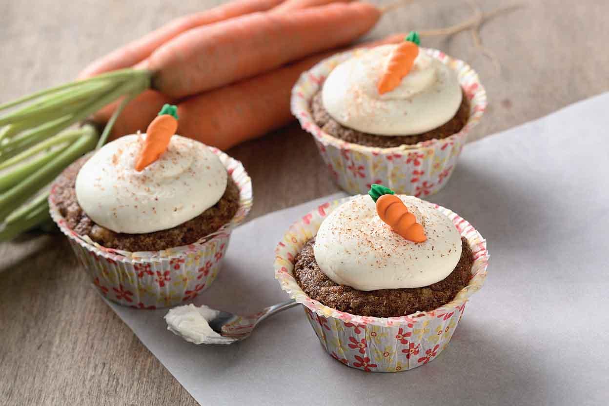 high altitude carrot cake cupcakes