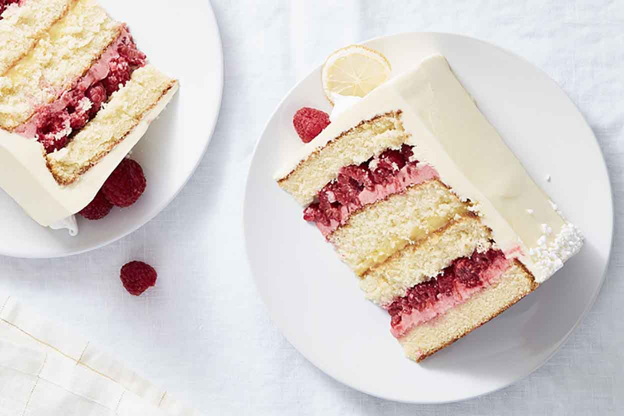 lemon wedding cake with raspberry filling recipe raspberry lemon cake recipe king arthur flour 16813