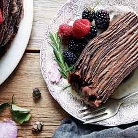 Chocolate Crêpe Cake