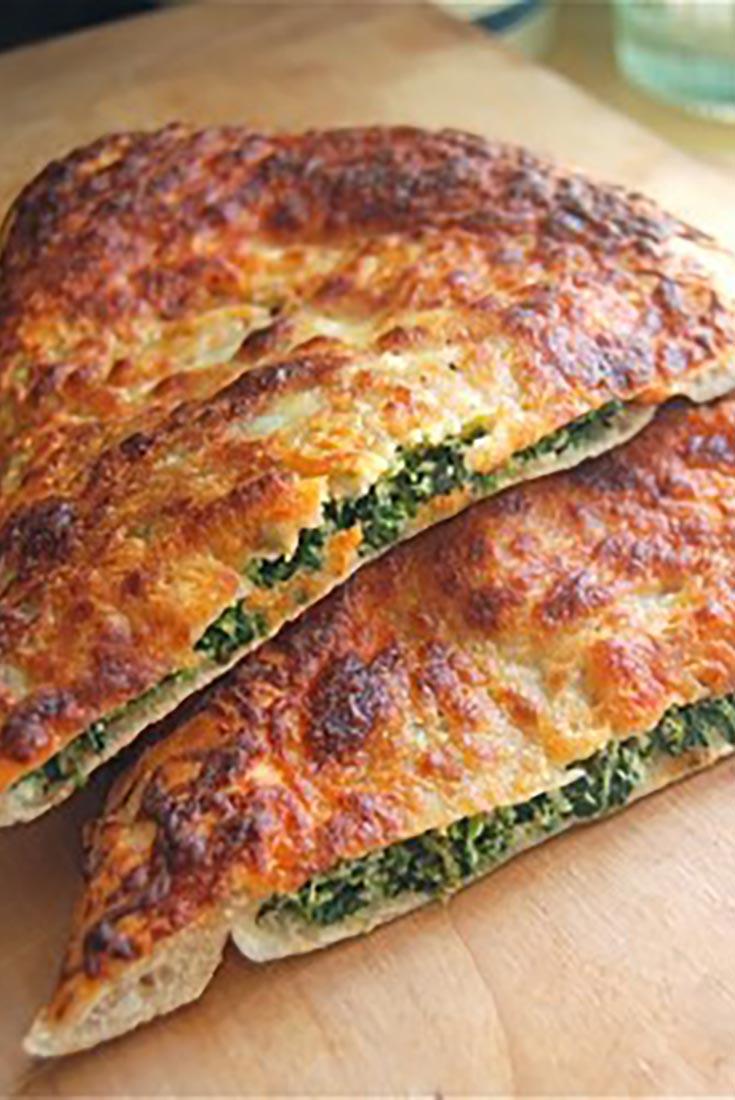 Spinach-Ricotta Calzone  Recipe