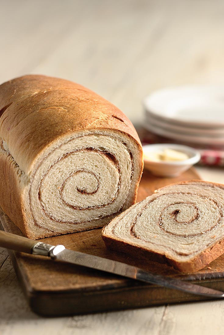 100% Whole Wheat Cinnamon Swirl Bread Recipe