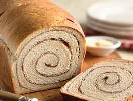 100% Whole Wheat Cinnamon Swirl Bread