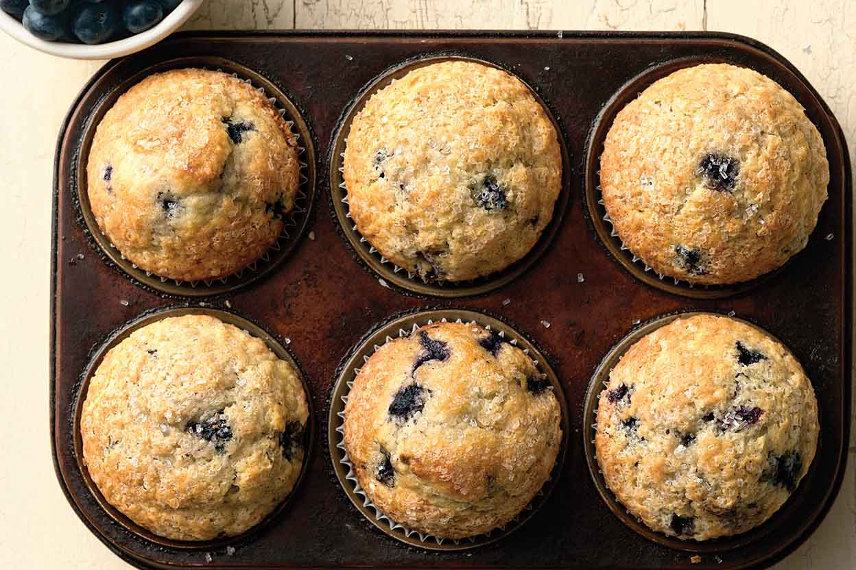 Easy SelfRising Blueberry Muffins Recipe King Arthur Flour