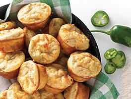 Spicy Jalapeno-Cheddar Mini Muffins