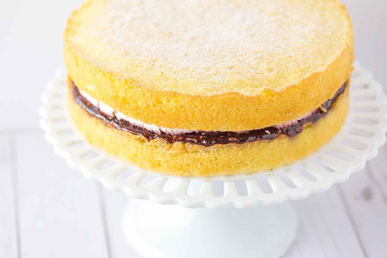 Jam Filled Cake Recipe