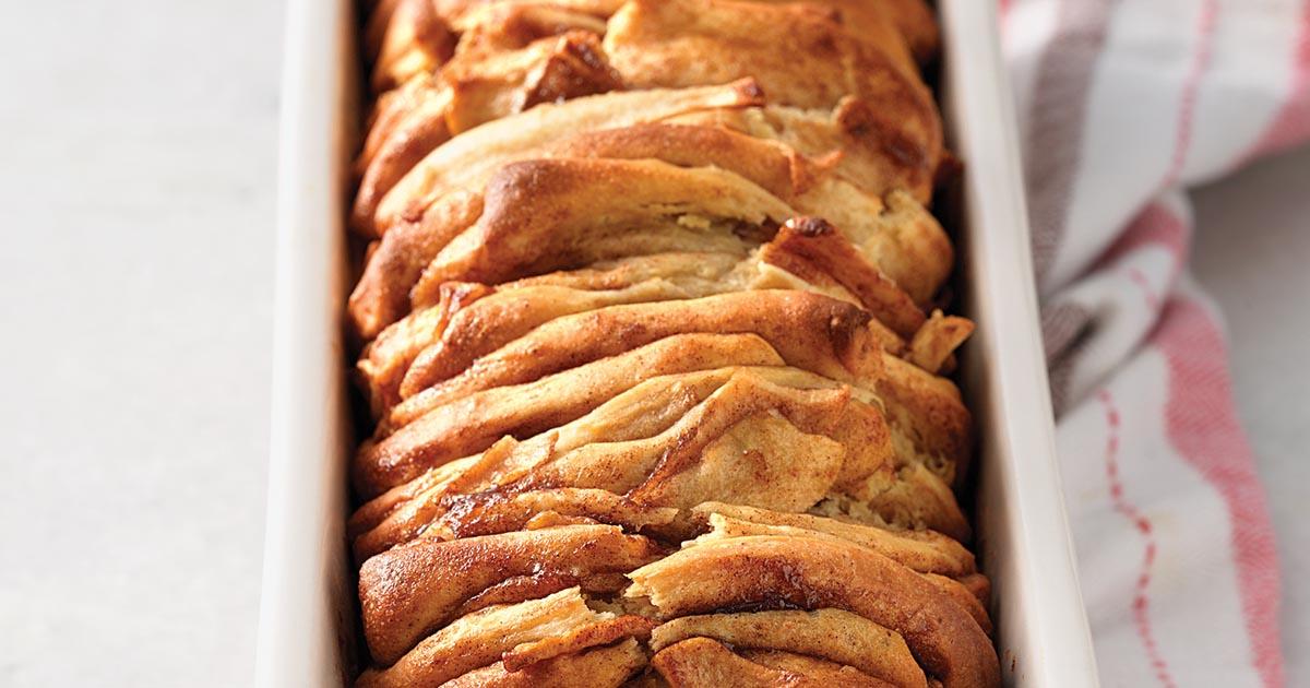 Cinnamon Apple Pull Apart Bread Recipe King Arthur Flour