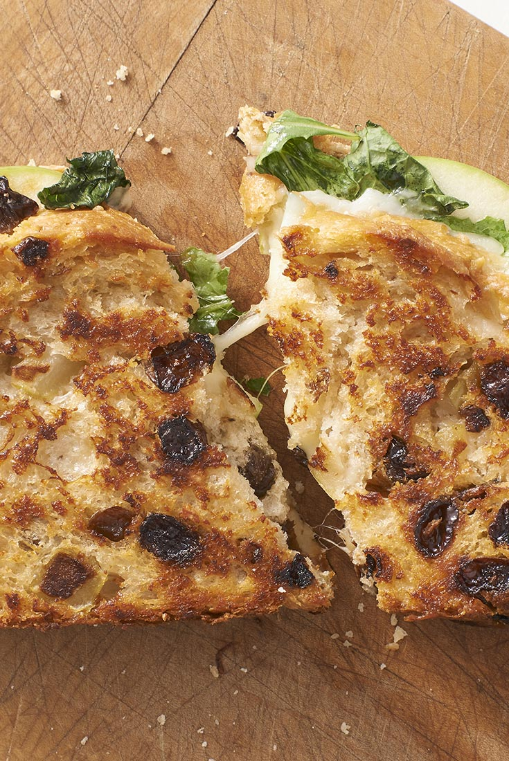 Grilled Cheese with Apple and Arugula Recipe