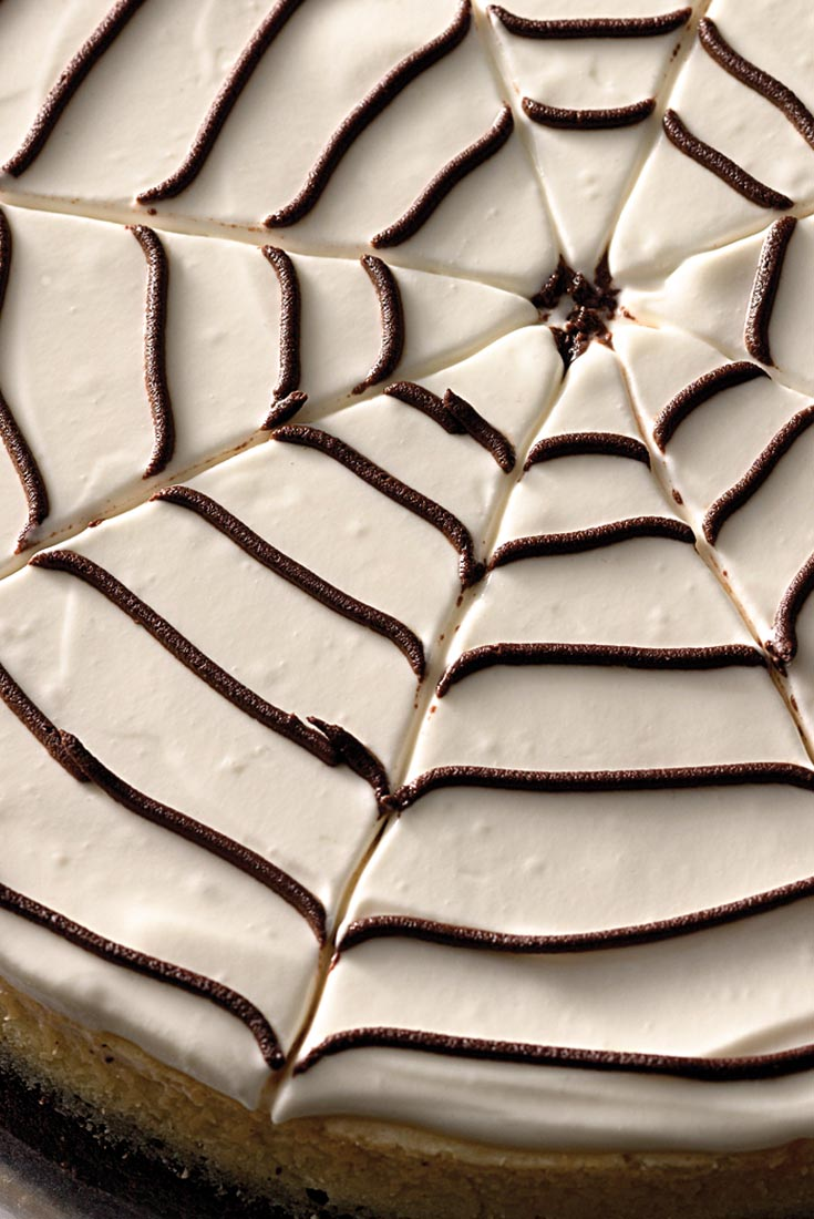 Spider Web Vanilla Bean Cheesecake Recipe