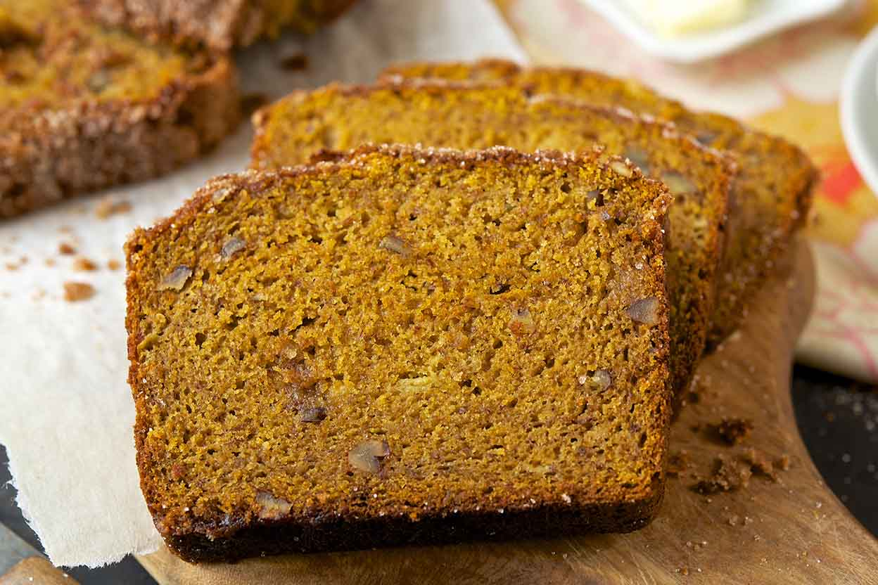 Easy whole grain pumpkin banana bread recipe king arthur flour forumfinder Gallery