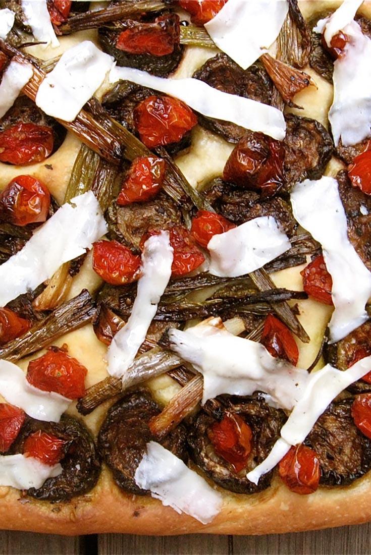 Roasted Vegetable Focaccia Recipe