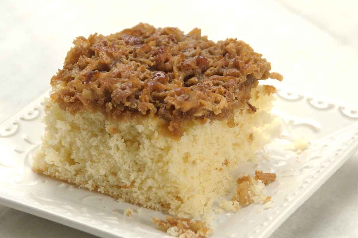 Easy Coffee Cake Recipe King Arthur: Coconut Pecan Snack Cake Recipe
