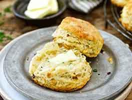 Caramelized Onion Sourdough Biscuits