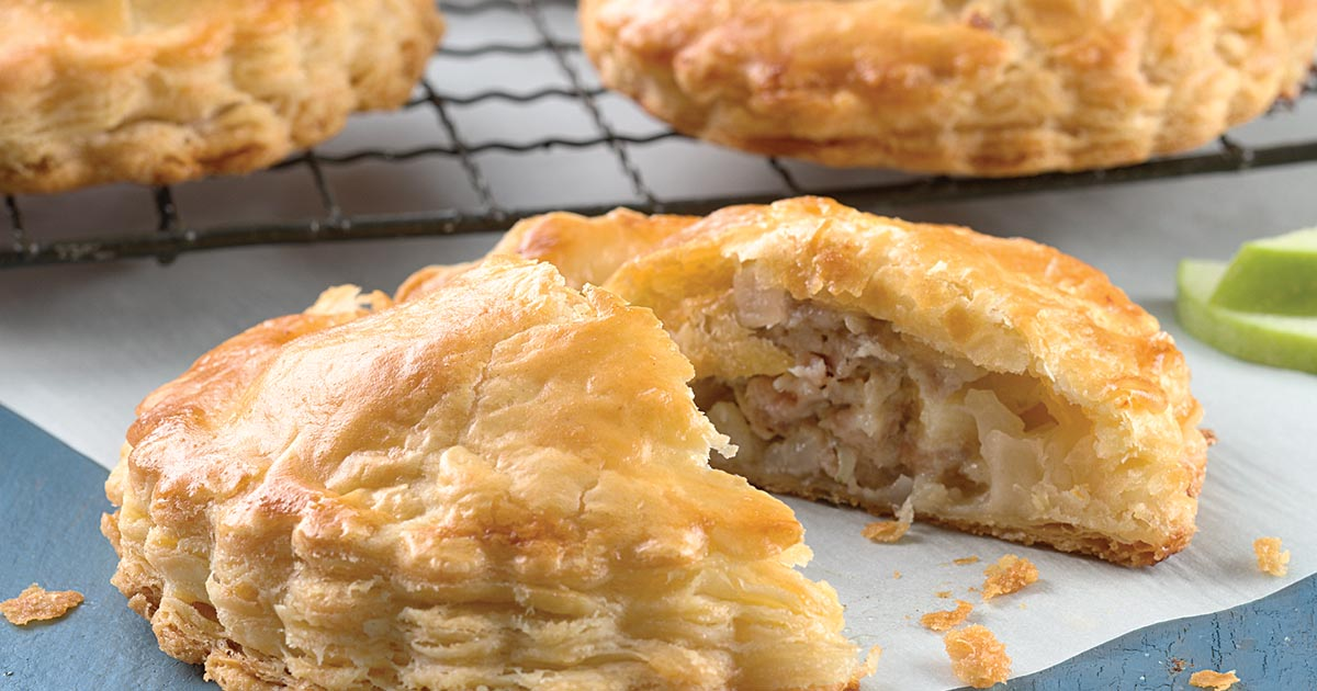 Sausage, Apple, and Cheddar Pocket Pies Recipe | King Arthur Flour