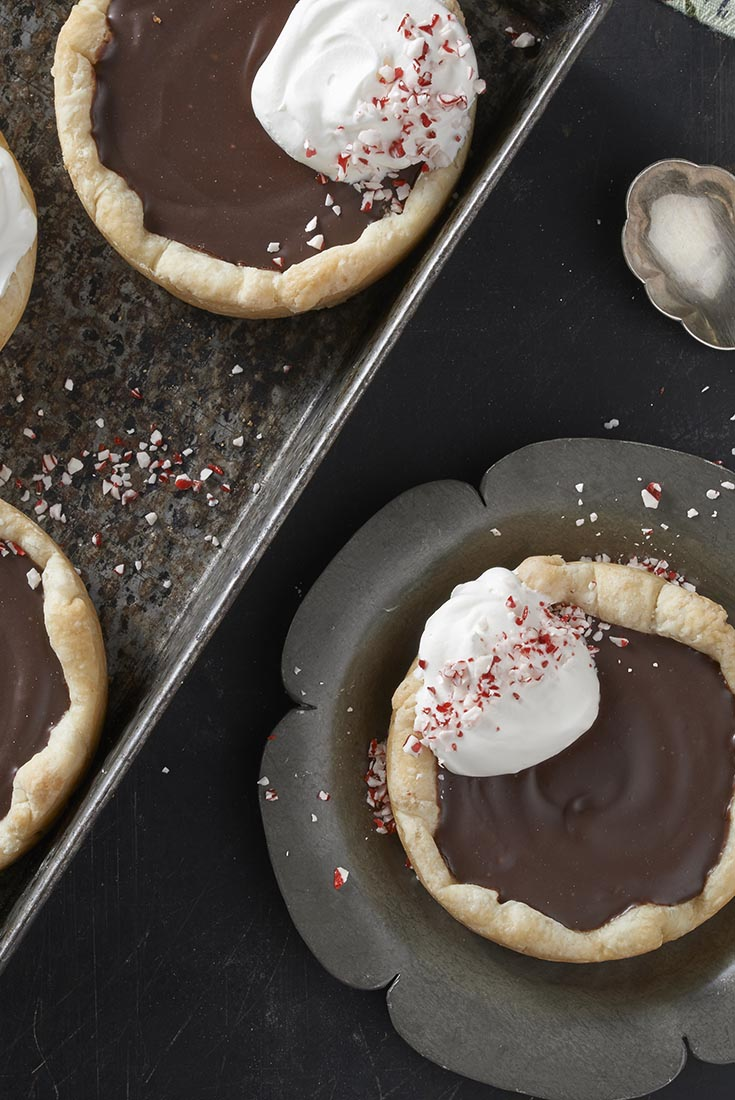 Chocolate-Peppermint Tartlets Recipe