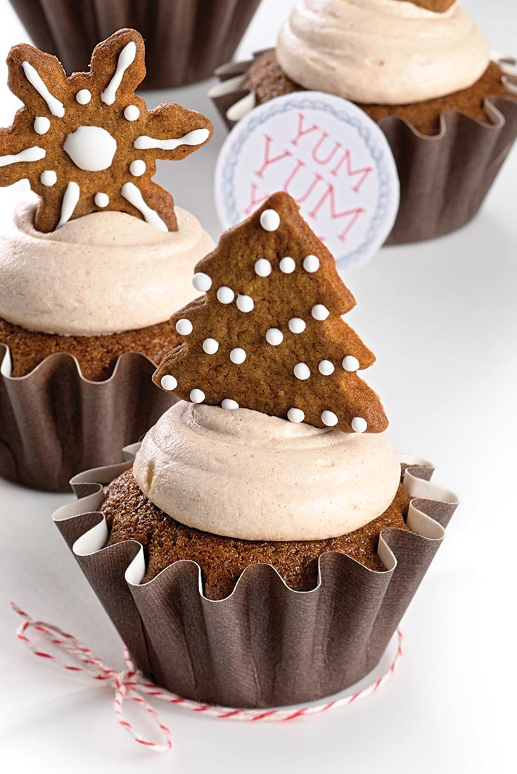 Gingerbread Cupcakes with Cinnamon Cream Cheese Frosting Recipe | King ...