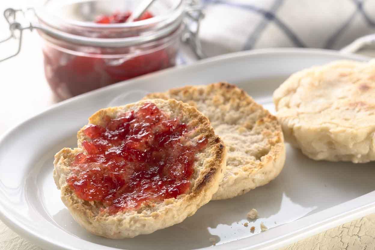 Gluten-Free Sourdough English Muffins Recipe | King Arthur Flour