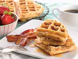 Maple-Bacon Yeast Waffles