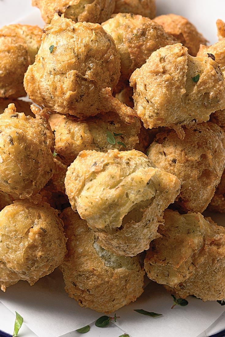 Herb and Garlic Puffs Recipe