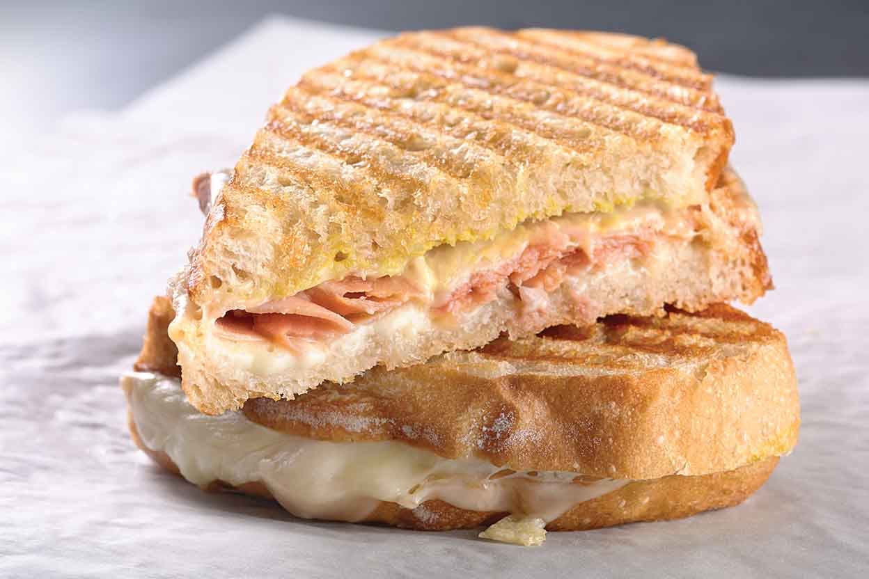 How to Make a Ham Panini on a George Foreman Grill