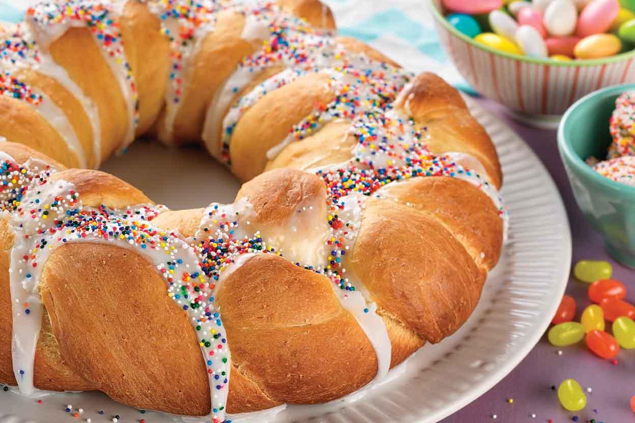 Easter Bread Wreath Recipe | King Arthur Flour