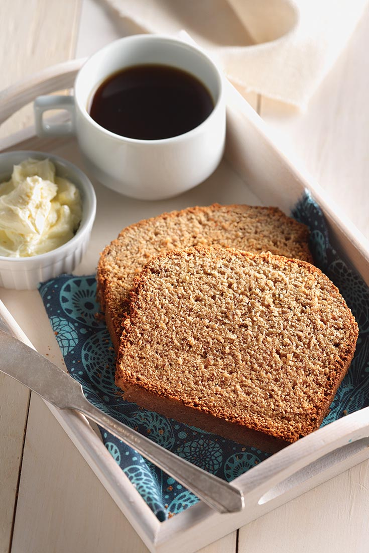 Gluten-Free Banana Bread with Coconut and Flax Recipe