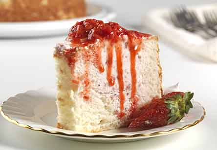 Strawberry-Filled Angel Food Cake