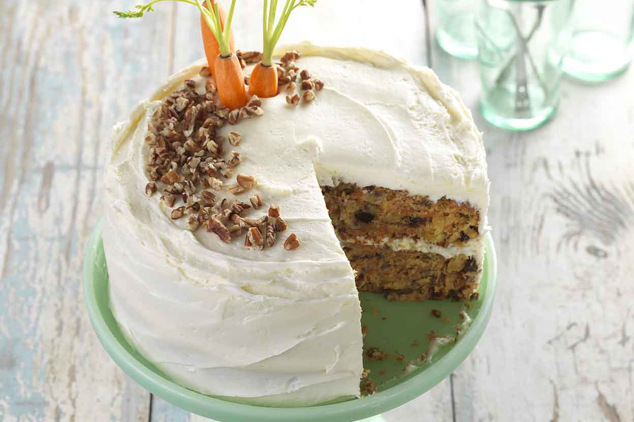 GlutenFree Carrot Cake with Cream Cheese Frosting Recipe King