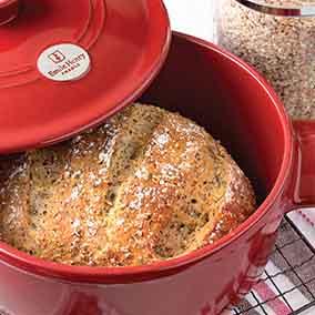No-Knead Harvest Grains Bread