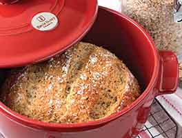 No-Knead Harvest Grains Bread